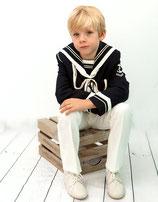 Marinero niño marino y crema