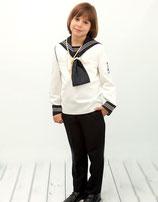 Marinero niño marino y blanco