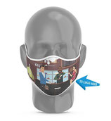 Mascarilla De Protección Reutilizable Para Filtro Modelo 2 -Personalizada Full Print