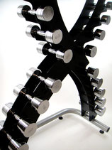 Classic Steel Dumbbell Set & RACK