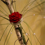 Rosenzepter mit 1er / 3 / 5 oder 7 Rosen