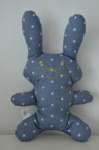 Doudou lapin étoiles