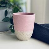 Spots Becher rosa/weiß in zwei Größen