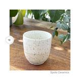 Spots Becher weiß/glänzend