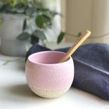 Cup rosa/weiß inkl. Holzlöffel