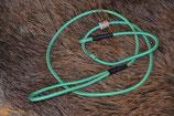 Moxon - Retrieverleine  100 cm, mit Hornstopper und Würgestop aus Metall