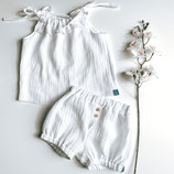 Set Ruffle Top & Bloomers aus Musselin