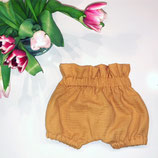 Tulpen Bloomers / Shorts aus Musselin curry