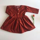 Knopfleisten Kleid Feincord