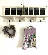 Kleid mit Häkeleinsatz / Leinen Aquarell Gr 86 /92