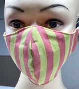 Behelfsmaske FACIE  4 Größen - pink lime