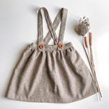 twirly Rock mit Trägern aus Leinen / Leinen Baumwollgemisch