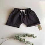 Shorts aus Musselin mit Fake Kordel