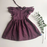 Kleid aus Leinen mit Flügelärmeln