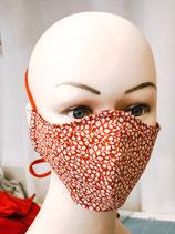 Behelfsmaske FACIE  4 Größen - rot Blätter