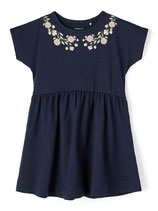 Kleid - marine - Blumen - Biobaumwolle - Aktion - NAME IT MINI GIRL
