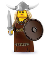 LEGO MINIFIGURA SERIE 7 | 13 MUJER VIKINGA