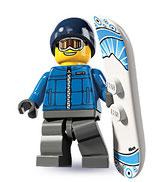 LEGO MINIFIGURA SERIE 5 | 16 CHICO SNOWBOARD