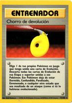 POKEMON CARTA ENTRENADOR 72/102 CHORRO DE DEVOLUCION