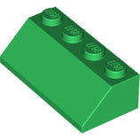 LEGO 3037 | 4141737  BLOQUE 2X4 / 45º VERDE OSCURO