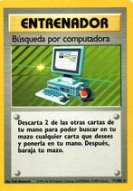 POKEMON CARTA ENTRENADOR 71/102 BUSQUEDA POR COMPUTADORA