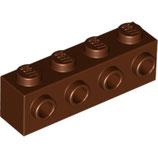 LEGO 30414 | 6153594 BLOQUE 1X4 C/ 4 KNOBS MARRON ROJIZO