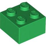 LEGO 3003 | 300328  BLOQUE 2X2 VERDE OSCURO