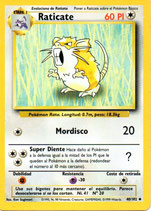 POKEMON CARTA 40/102 RATICATE