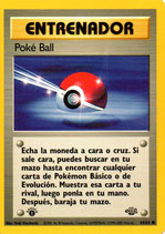 POKEMON CARTA ENTRENADOR 64/64 POKE BALL 1º EDC
