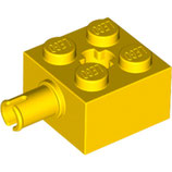 LEGO 6232 | 623224  BLOQUE 2X2 W. SNAP Y CRUZ AMARILLO BRILLANTE