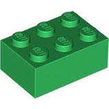 LEGO 3002 | 4109674  BLOQUE 2X3 VERDE OSCURO