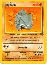 POKEMON CARTA FUERZA 61/64 RHYHORN