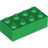 LEGO 3001 | 4106356  BLOQUE 2X4 VERDE OSCURO