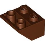 LEGO 3660 | 4211221  BLOQUE 2X2 / 45º INV MARRON ROJIZO