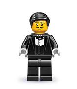LEGO  MINIFIGURA SERIE 9 | Nº 01 CAMARERO