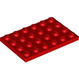 LEGO 3032 | 303221 PLACA 4X6 ROJO BRILLANTE