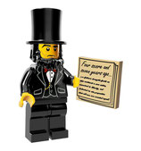 LEGO MOVIE MINIFIGURA SERIE 12 Nº 05 Abraham Lincoln
