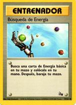 POKEMON CARTA ENTRENADOR 59/62 BUSQUEDA DE ENERGIA