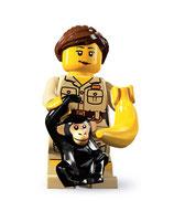 LEGO MINIFIGURA SERIE 5 | 07 CRIADORA ZOO CON MONO