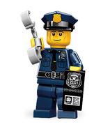 LEGO  MINIFIGURA SERIE 9 | Nº 06 AGENTE DE POLICIA