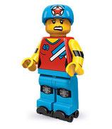 LEGO  MINIFIGURA SERIE 9 | Nº 08 CHICA PATINADORA