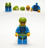LEGO MINIFIGURA SERIE 10 | Nº 06 PARACAIDISTA SKY DIVER