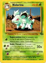 POKEMON CARTA PLANTA 40/64 NIDORINA