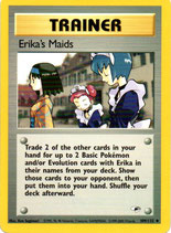 POKEMON CARTA ENTRENADOR 109/132 ERIKA´S MAIDS