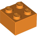 LEGO 3003 | 4153825 BLOQUE 2X2 NARANJA BRILLANTE