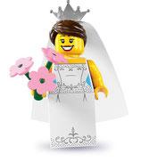 LEGO MINIFIGURA SERIE 7 | 04 MUJER NOVIA