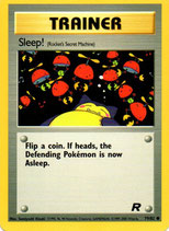 POKEMON CARTA ENTRENADOR 79/82 SLEEP!