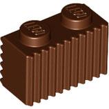 LEGO 2877 | 4223303  BLOQUE 1X2 PERFILADO MARRON ROJIZO