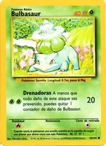 POKEMON CARTA PLANTA 44/102 BULBASAUR