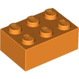 LEGO 3002 | 4153826  BLOQUE 2X3 NARANJA BRILLANTE